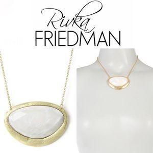 Rivka Friedman Mother of Pearl Pendant Necklace